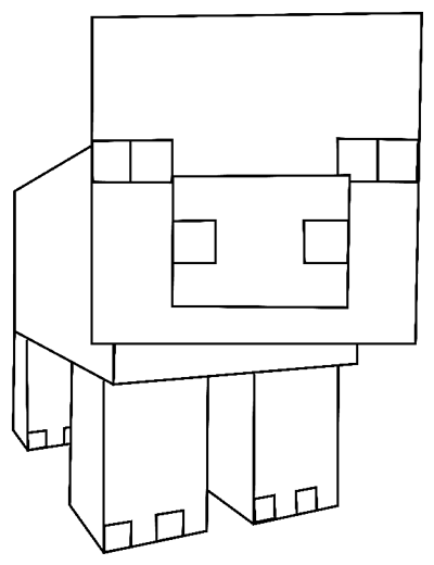 Image of: Cat Step Drawing Pig From Minecraft In Easy Steps Lesson Drawing How To Draw How To Draw Pig From Minecraft With Easy Step By Step Drawing