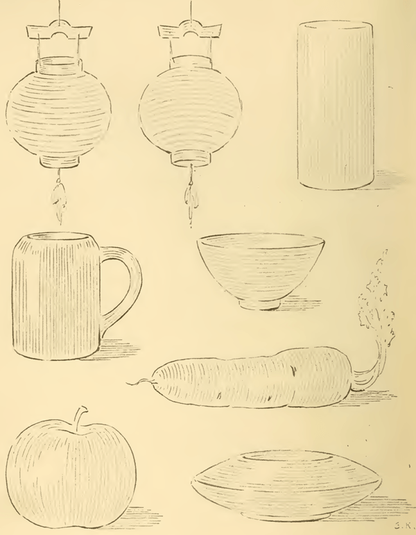 Pencil Strokes on Rounded Objects