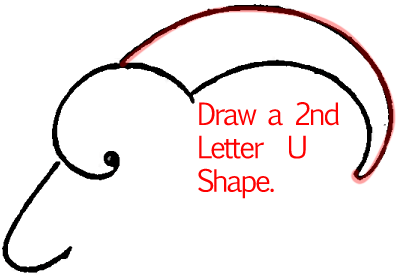 Step 4 : Drawing a Goat Face in Easy Steps Lesson