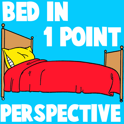 How to Draw Beds in One Point Perspective