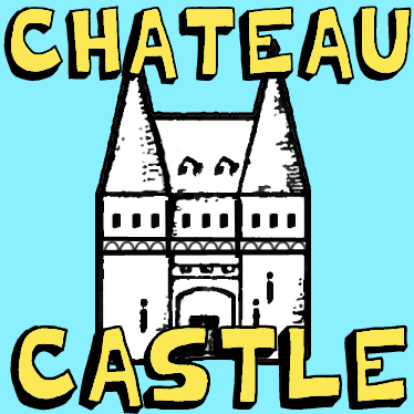 How To Draw Simple Cartoon Chateau Castles