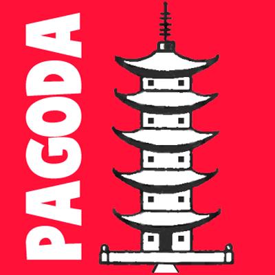 How to Draw a Cartoon Pagoda step by step