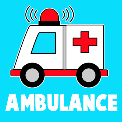 How to Draw Cartoon Ambulances for Kids