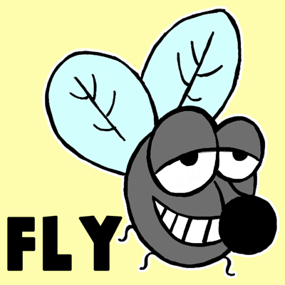 How To Draw A Cartoon Fly With Simple Shapes How To Draw Step By