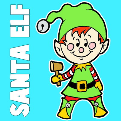 How to Draw a Christmas Elf with Easy Steps Drawing Tutorial