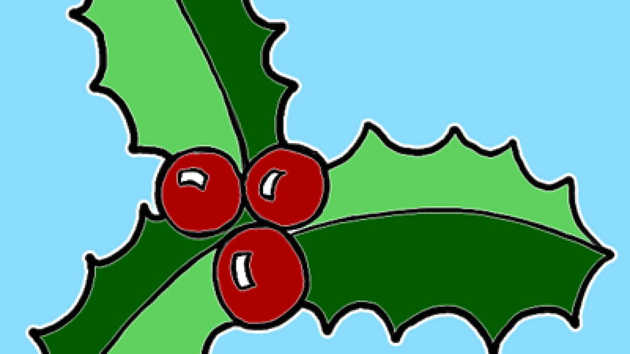 Christmas Holly Cartoon.How To Draw Christmas Holly With Easy Tutorial How To Draw