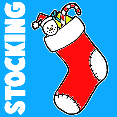 Christmas Stockings Cartoon.How To Draw Christmas Stockings With Easy Steps For Kids