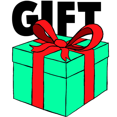 How To Draw A Wrapped Gift Or Present With Ribbon And Bow How To