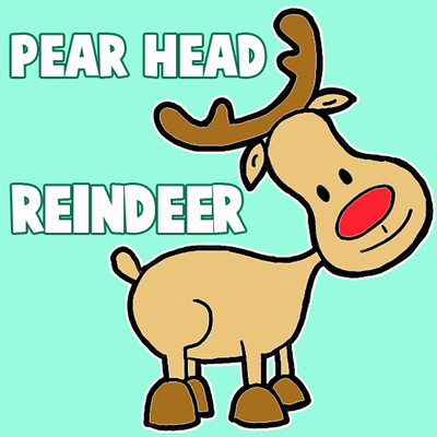 How to Draw a Cute Cartoon Reindeer for Christmas