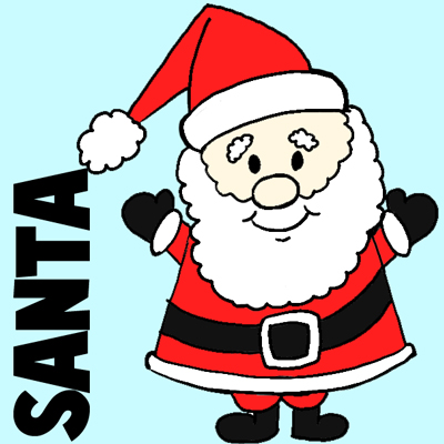Easy Instructions For How To Draw Santa Clause For Kids - How To Draw Step By Step Drawing Tutorials