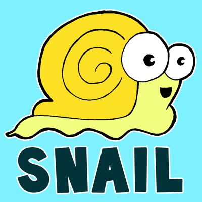 How to Draw Cartoon Snails with Simple Guided Steps