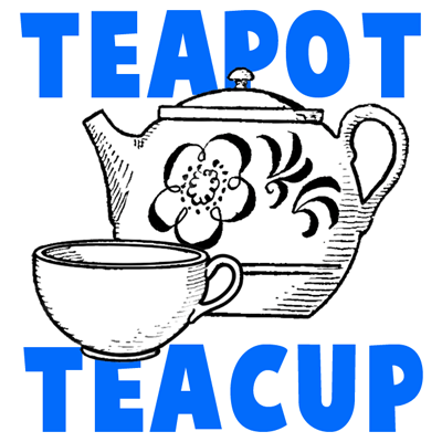 How to Draw Teapots & Teacups with Simple Steps