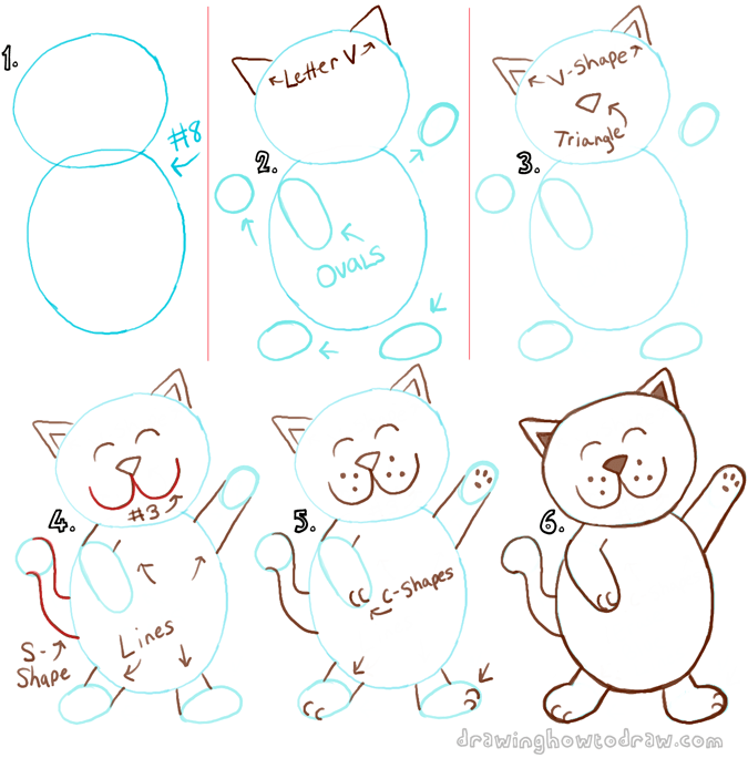 How To Draw Anime Cats For Beginners