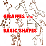 Big Guide to Drawing Cartoon Giraffes with Basic Shapes for Kids