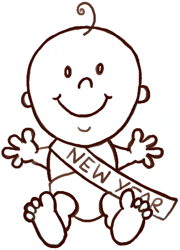 How to Draw Baby New Year with Easy Steps