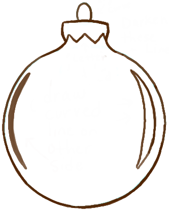 How to Draw Christmas Tree Ornaments with easy Steps - How ...