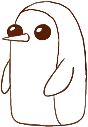 How to Draw Gunter from Adventure Time with Easy Tutorial - How to ...