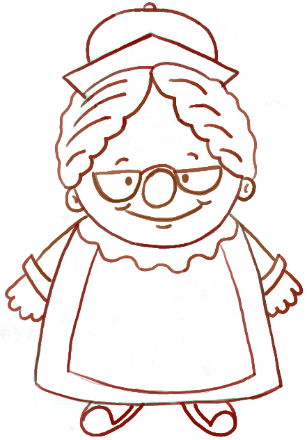 How to Draw Mrs. Clause with Easy Step by Step Drawing Tutorial