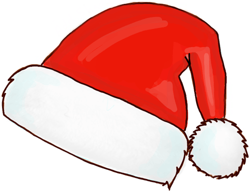 How to draw santa hats with easy steps step