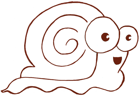 How To Draw Cartoon Snails With Simple