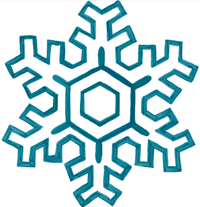 how to draw cartoon snowflakes step by step for kids