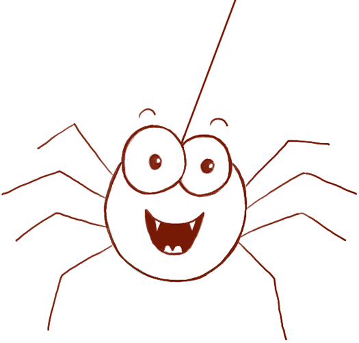 how to draw cute cartoon spider with easy steps