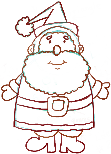 How to Draw an Easy-to-Draw Santa Clause for Christmas