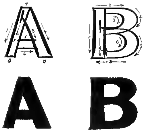 Bubble Letters A And B