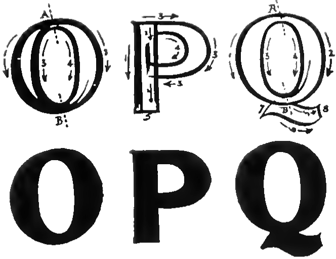 Bubble Letters O P And Q
