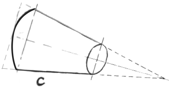 Drawing a Segment of a Cone in Perspective