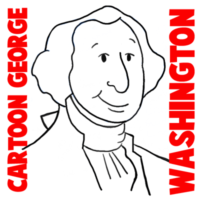 How to Draw Cartoon George Washington with Simple Step by Step Lesson