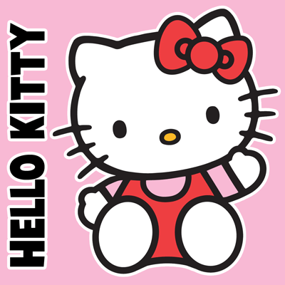 how to draw hello kitty sitting with simple steps for kids - Kids Simple Drawing