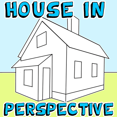 How to Draw a House in 2 Point Perspective with Easy Step by Step Drawing Tutorial