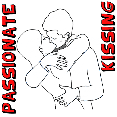 How to Draw Kissing : Drawing a Passionate Kiss for Valentines Day