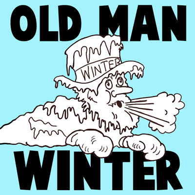 How to Draw Old Man Winter - Old Man with Icicles All Over His Face and Beard