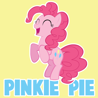 How to Draw a Happy Pinkie Pie from My Little Pony with Easy Steps