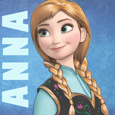 Frozen Anna And Elsa As Kids Drawing
