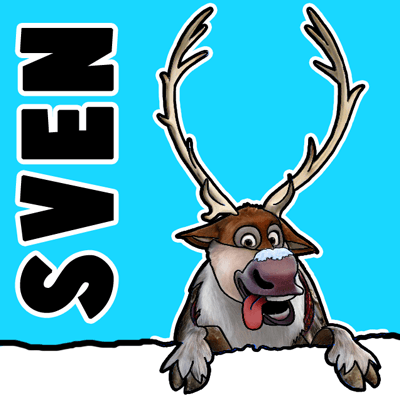 How to Draw Sven the Reindeer from Frozen Step by Step Tutorial