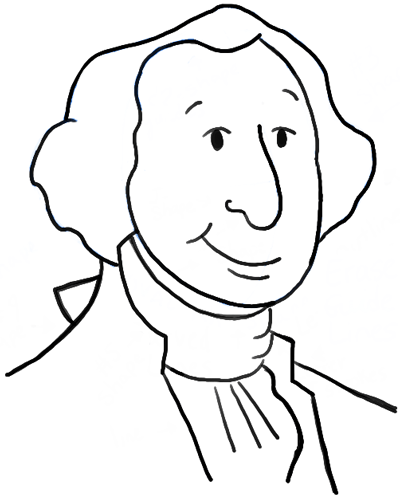 How to Draw Cartoon George Washington with Simple Step by Step ...