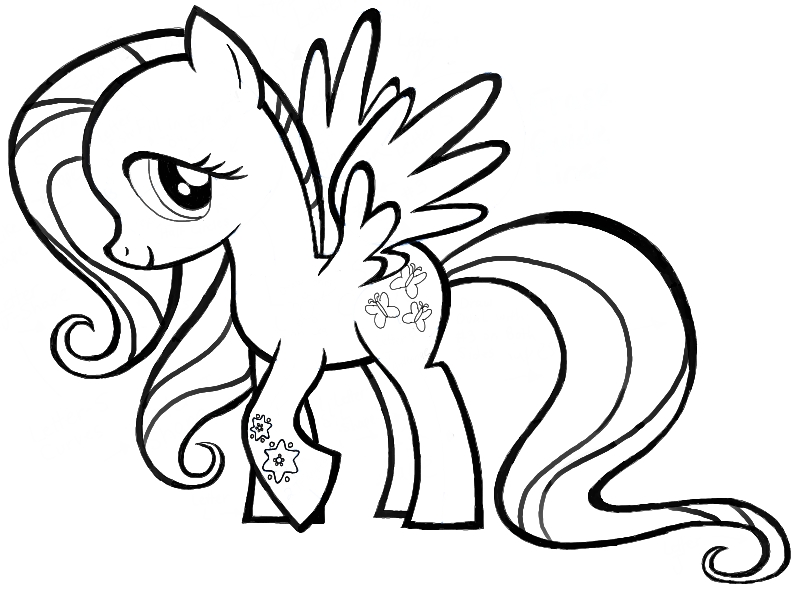 Finished Drawing Of Fluttershy From My Little Pony Friendship Is Magic