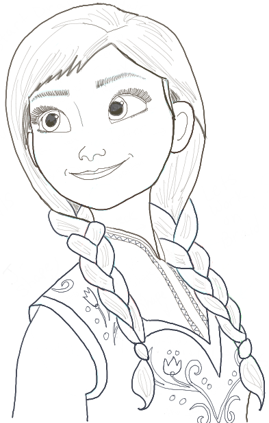 Drawing Lines Is Hard : How to draw princess anna from frozen step by