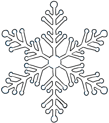 How to Draw Snowflake with Easy Drawing Lesson