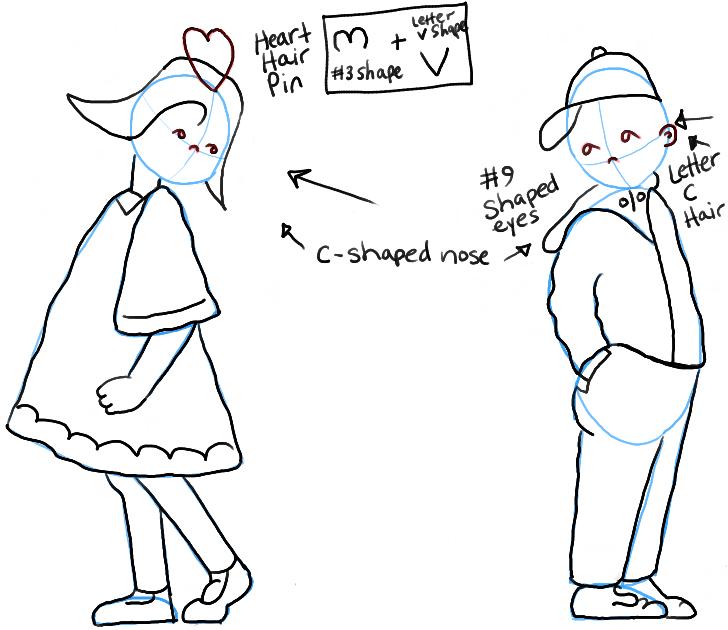 drawing girl love boy