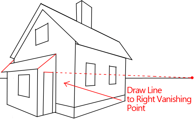 How to draw a house with easy 2 point perspective for Architecture modern house design 2 point perspective view