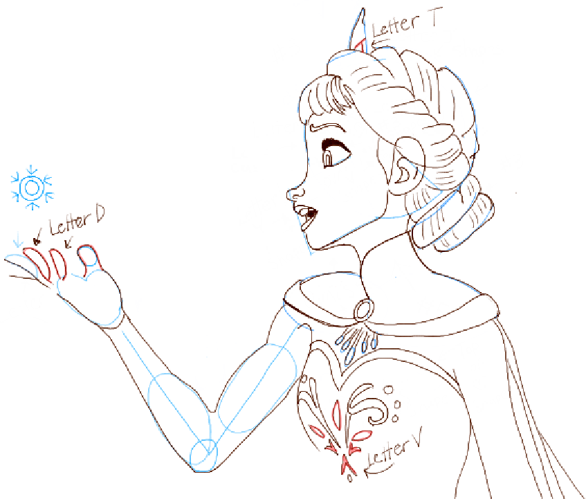 How To Draw Elsa From Frozen How To Draw Step By Step Princess Elsa Drawing