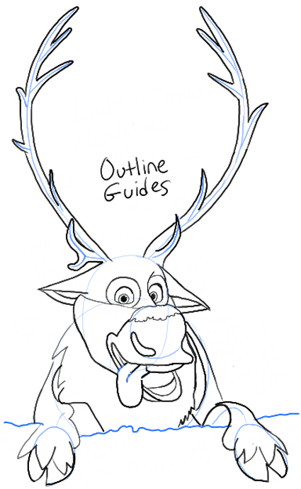 disney frozen sven drawing - photo #4