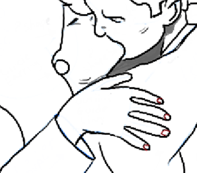how to draw a couple kissing step by step easy