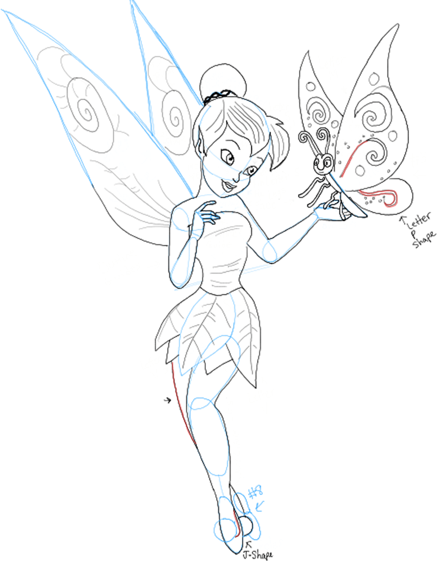 Uncategorized Drawing Of Tinkerbell how to draw tinkerbell holding a butterfly with easy follow step10 and butterfly