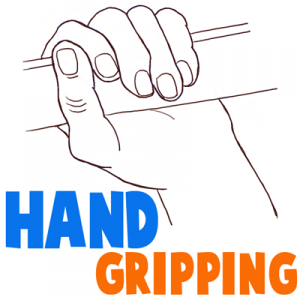 how to draw a hand palm up step by step