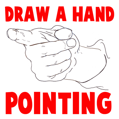 How to Draw Hands Pointing at You with Easy Step by Step Drawing Tutorial